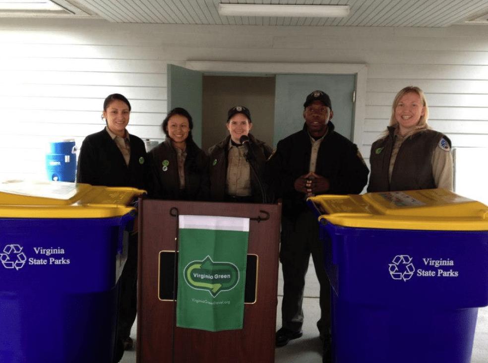 Recycling at Virginia Parks